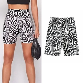 Fashion Animal Print Cycling Shorts NSLD26247