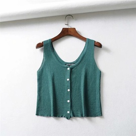 Fashion Knitted Stretch Slim Sleeveless Top NSLD35444