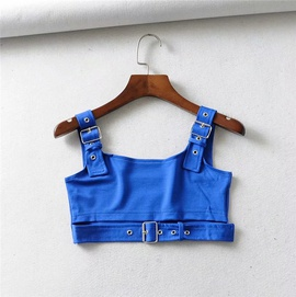Buckle Design Splicing Small Vest  NSLD35479