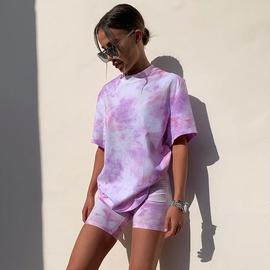 Fashion Tie-dye T-shirt Shorts Suit NSHZ35715