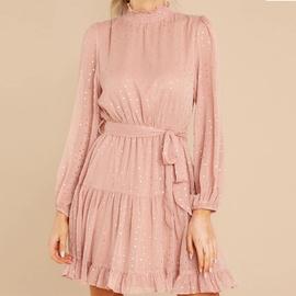 Flared Sleeve Chiffon Dress  NSHZ35785
