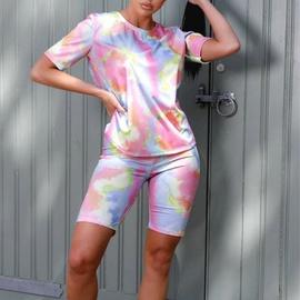 Round Neck Short-sleeved Shorts Suit NSXS35894