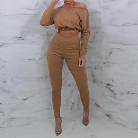 Casual Fashion Long-sleeved Top Trousers Set NSXS35926