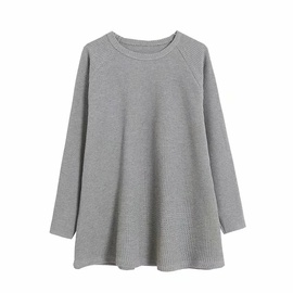 Solid Color Loose Pullover Sweatshirt NSAC34407