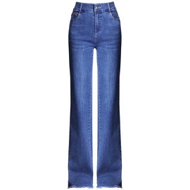 Raw Edge Draping Jeans  NSYZ34416