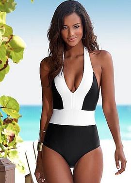 Color Matching One-piece Bikini NSHL34442