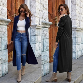 Lapel Knitted Long-sleeved Solid Color Cardigan NSLM34562