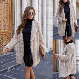 Faux Lamb Wool Thick Coats  NSLM34564