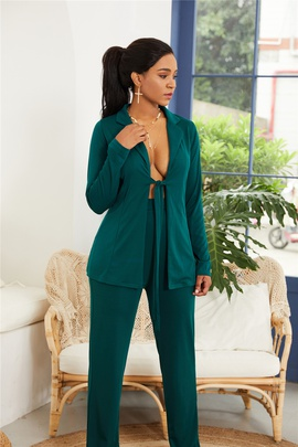 Suit Collar Casual Jumpsuit  NSLM34568