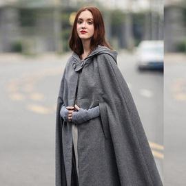 Fashion Retro Style Cloak Windbreaker  NSSE36017