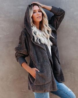 Wool Solid Color Long-sleeved Jacket NSSE36018