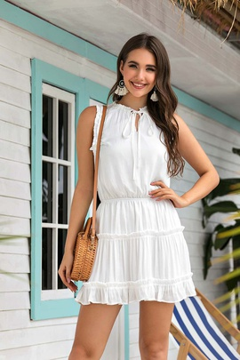 Fashion Fall V-neck Dress NSSE36033