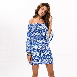 Fashion One-shoulder Round Neck Sexy Dress NSDF36045