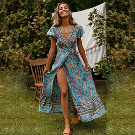 Spring New Printed One-piece Dress NSSE36092