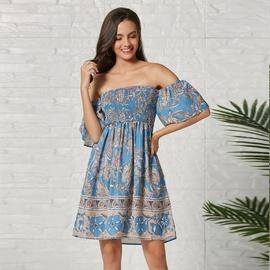 New Print Tube Top Skirt NSSE36103