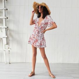 New Print Stitching Short Dress NSSE36149
