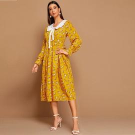 Floral Fashion Sexy High Waist Printed Dress NSXS36173