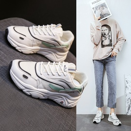 Fashion Thick-soled White Sneakers  NSSC36206