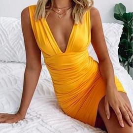 Sexy V-neck Sling Dress NSXS36232