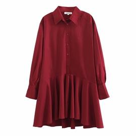 New Loose Large Long Sleeve Fishtail Shirt Skirt NSAM36254