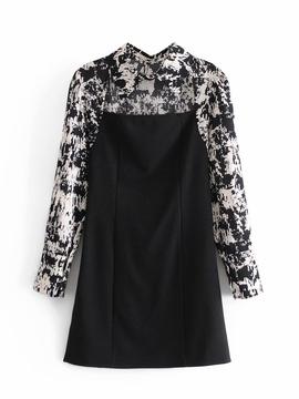 New Printed Stitching Shirt Knitted Skirt  NSAM36263