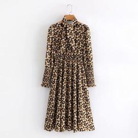 Black Floral Mid-length Dress  NSAM36279