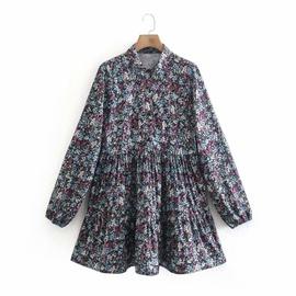 Spring Printed Shirt Dress NSAM36287