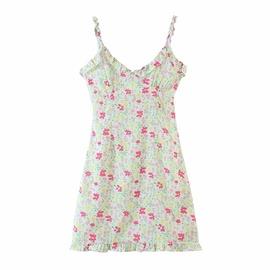 Spring Floral Sling Dress NSAM36297
