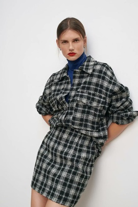 Spring Lapel Texture Shirt Jacket NSAM36300