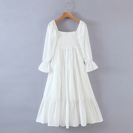 Spring Elastic Elegant Long Skirt Dress  NSAM36302