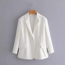 Single-breasted Long-sleeved Loose Blazer  NSAM36325