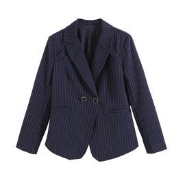 Fashion New Pinstripe Lapels Suit Jacket NSAM36328