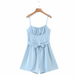 New Style Solid Color Suspender Jumpsuit  NSAM36346