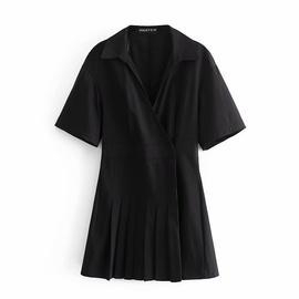 Spring Slim Poplin Double Breasted Dress  NSAM36350