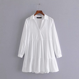 Spring Mini Long Sleeve Dress  NSAM36365