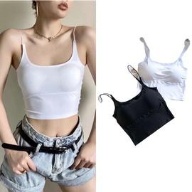 Casual Simple Shoulder Strap Vest   NSLD36387