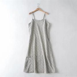 Floral Print Suspender Dress  NSLD36406