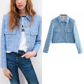 Casual Simple Tweed Short Suit Jacket  NSLD36415
