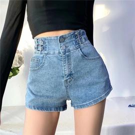 Fashion Stitching Belt Decoration Denim Shorts NSLD36450