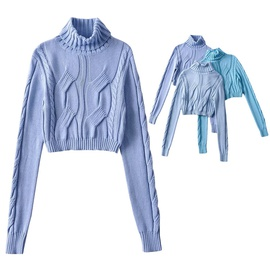 High Collar Casual Simple Pure Color Sweater NSLD36463