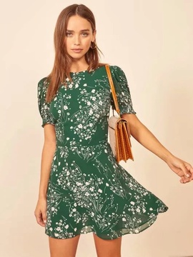 Summer New Style Small Floral V-neck Lace Dress NSAC36502