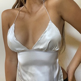 Spring And Summer New Sexy Solid Color Straps Tops NSSU36507