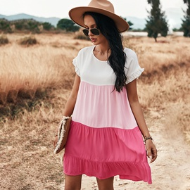 Stitching Spring And Summer Holiday Skirts NSDY36603