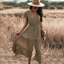 Sexy Leopard Print Short-sleeved Dress  NSDY36604