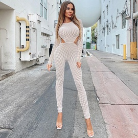 Sexy Round Neck Long-sleeved Jumpsuit NSMX36637