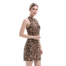 Sexy Leopard Print Stretch Slim Dress  NSJR36716