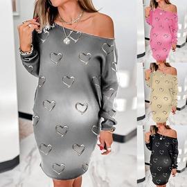 Printing Long-sleeved Casual Dress  NSKX36797