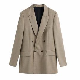 Fashion Khaki Suit Jacket  NSAM36890