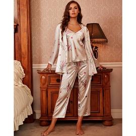 New Silk Four-piece Sexy Nightgown  NSJO37068