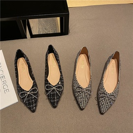 Fashion Spring Pointed Bow Shoes NSHU37104